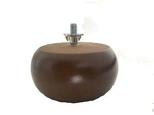Pe para sofá de madeira redondo 4 cm altura - Alure