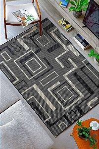 Tapete para Sala Sisal Antiderrapante com Quina de Proteção Geometrico - S552 - 1,00x1,50