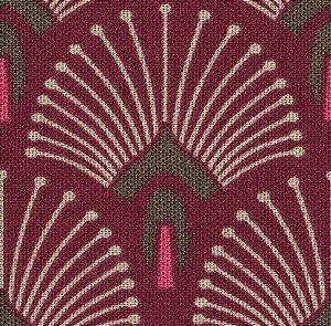 Tecido Impermeabilizado Geométrico Vermelho - ASTV 108