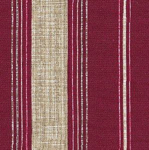 Tecido Impermeabilizado Listrado Vermelho - ASTV 110