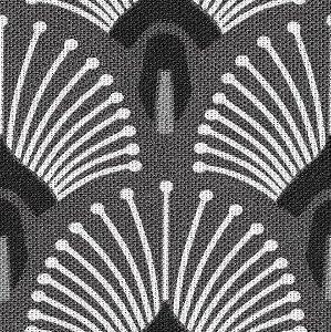 Tecido Impermeabilizado Geométrico Cinza e Preto - ASTV 133