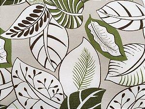 Tecido área externa Summer  Floral Verde Areia Branco 263