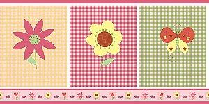 Papel de Parede Infantil Treasure Hunt - Faixa 0,265m x 5m Borboletas e Flores TH-68193