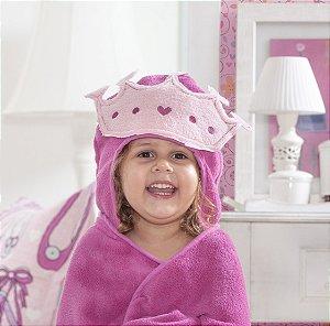 Manta Roupão Intantil com capuz Princesa