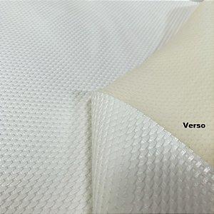 Tecido Courvin Náutico Kelsons Trançado Branco Anti Mofo e com proteção UV