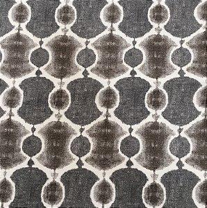 Tecido Linho Impermeabilizado Abstrato Cinza, Cru e Marrom - Mace 29