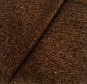 Tecido Linho Impermeabilizado Liso Marrom - Mace 46