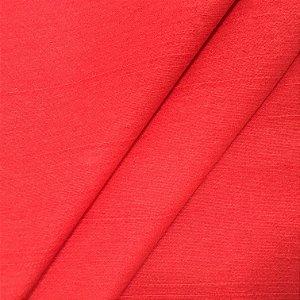 Tecido Linho Impermeabilizado Liso Vermelho - Mace 52