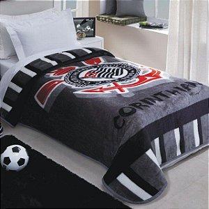 Manta Cobertor Corinthians Oficial e Licenciado - Solteiro 2,00 m X 1,50 m