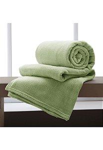 Manta Verde Sage Casal Microfibra Corttex Home Design 1,80 x 2,20 mts