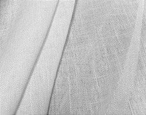 Tecido Linho Liso Flame Branco, Linho para Cortinas