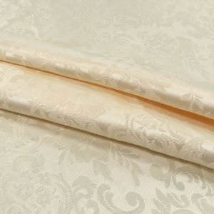 Tecido Jaquard Adamascado Floral com 2,80 mts de largura Creme