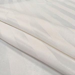 Tecido Jacquard Adamascado Listrado Pérola com 2,80 mts de largura