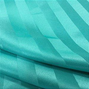 Tecido Jacquard Adamascado Listrado Verde Tifanny com 2,80 mts de largura