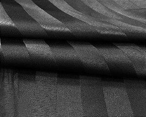 Tecido Jacquard Adamascado Listrado Preto com 2,80 mts de largura