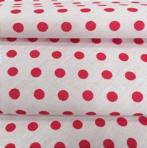 Tecido Tricoline Chita Patchwork Poá Branco e Pink - Gramado 8