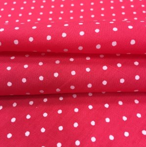 Tecido Tricoline Chita Patchwork Mini Poá Pink e Branco - Gramado 17