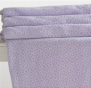 Manta Lilas e Branco Solteiro Microfibra Corttex Home Design 1,50 x 2,00 mts - Tile