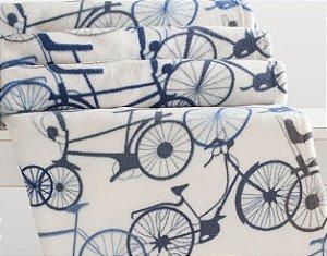 Manta Solteiro Microfibra Corttex Home Design 1,50 x 2,00 mts - Bicicletas