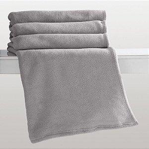 Manta Cinza Solteiro Microfibra Corttex Home Design 1,50 x 2,00 mts