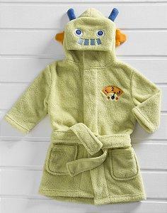 Manta Roupão Infantil Microfibra Robô Verde Baby Zoo Corttex