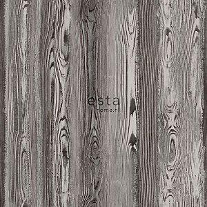 Papel de parede Cabana Estilo Madeira Marrom - 140-148627