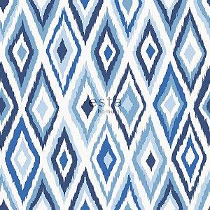 Papel de parede Cabana Losangos Creme e Azul - 140-148634