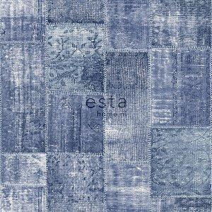 Papel de parede Marrakech Patchwork Azul Jeans 138-148333