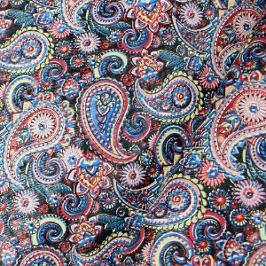 Tecido Corino Indiano Colorido texturizado fundo Preto