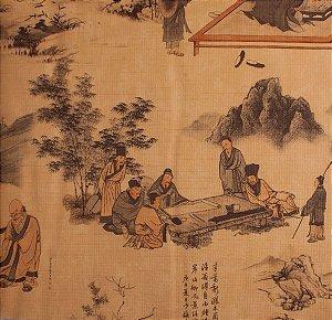 Papel de parede Neonature Toile de Jouy Estilo Chinês Bege PR-0214