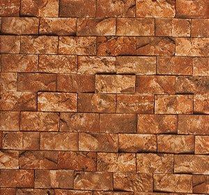 Papel de parede Neonature Estilo Parede de Tijolinhos Alaranjada PR-8024