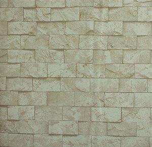 Papel de parede Neonature Estilo Parede de Pedras Off White PR-8025