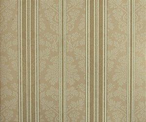 Papel de parede Space III Floral com Linhas Cappuccino e Branco SP-139304