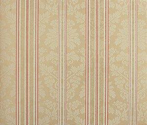 Papel de parede Space III Floral com Linhas Bege e Rosa Antigo SP-139303