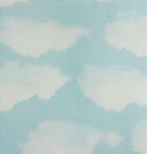 Papel de parede Ola Baby Azul Claro com Nuvens Brancas FA-39201