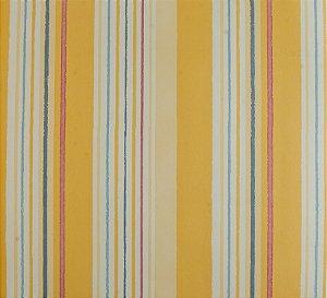 Papel de parede Ola Baby Listrado Amarelo, Azul, Branco e Rosa FA-83401