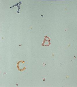 Papel de parede Ola Baby Azul Claro Liso com Alfabeto Colorido FA-83503