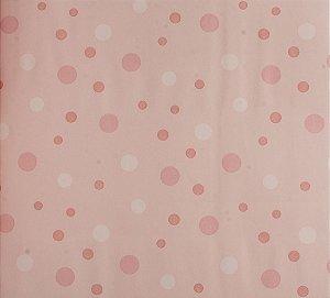 Papel de parede Ola Baby Rosa Claro com Bolinhas FA-38701