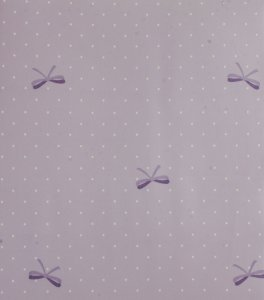 Papel de parede Ola Baby Poa Lilás, Branco com Laços FA-39503