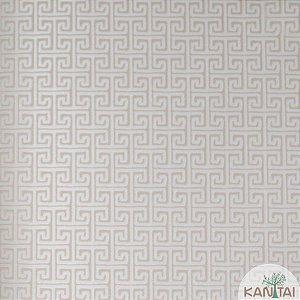 Papel de parede Barcelona Geométrico Marfim e Cappuccino BC-381501