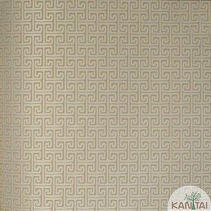 Papel de parede Barcelona Geométrico Bege e Bege Claro BC-381502