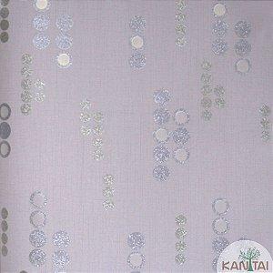 Papel de parede Barcelona Cinza com Círculos Prata e Cinza Escuro BC-382305