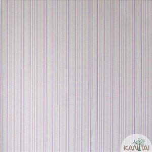 Papel de parede Barcelona Listrado Lilás e Branco BC-381903