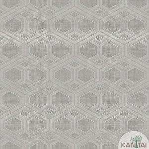 Papel de parede New Form Formas Geometricas Prata - NF-630308