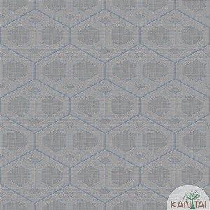Papel de parede New Form Formas Geométricas Cinza Escuro - NF-630305