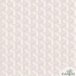 Papel de parede New Form Estilo Geométrico 3D Off White - NF-630102