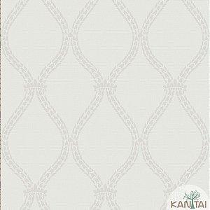 Papel de parede New Form Estilo Cordas Off White e Creme - NF-630602