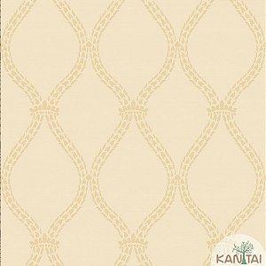 Papel de parede New Form Estilo Cordas Dourado e Bege - NF-630603