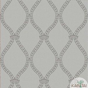 Papel de parede New Form Estilo Cordas Prata e Cinza - NF-630604