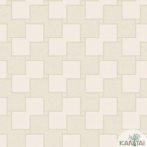 Papel de parede New Form Quadrados Creme e Off White - NF-630202